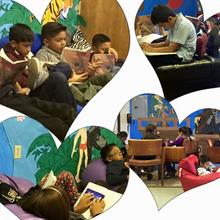 Mrs. Alcala's 3rd class loves the Tiger Reading Den