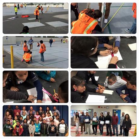 teresa Hughes elementary school working with ELAC's engineering department!!  Thank you Dr. Gallegos and the engineering students for volunteering you time!