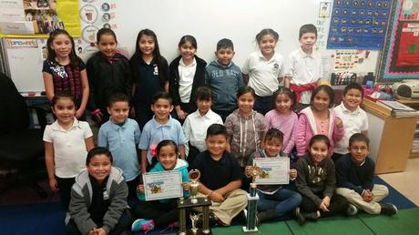 Congratulations to Ms. Palafox!!! Her Class had the best schooled attendance  for the month of December with 99.24%