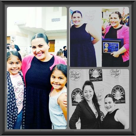 Congratulations to Ms. Palafox. She was honored as Teacher of the Year by the  City of Bell!